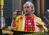 Dr Emmett Brown Back to the Future Movie Masterpiece Series Sixth Scale Figure by Hot Toys - Collectors Row Inc.