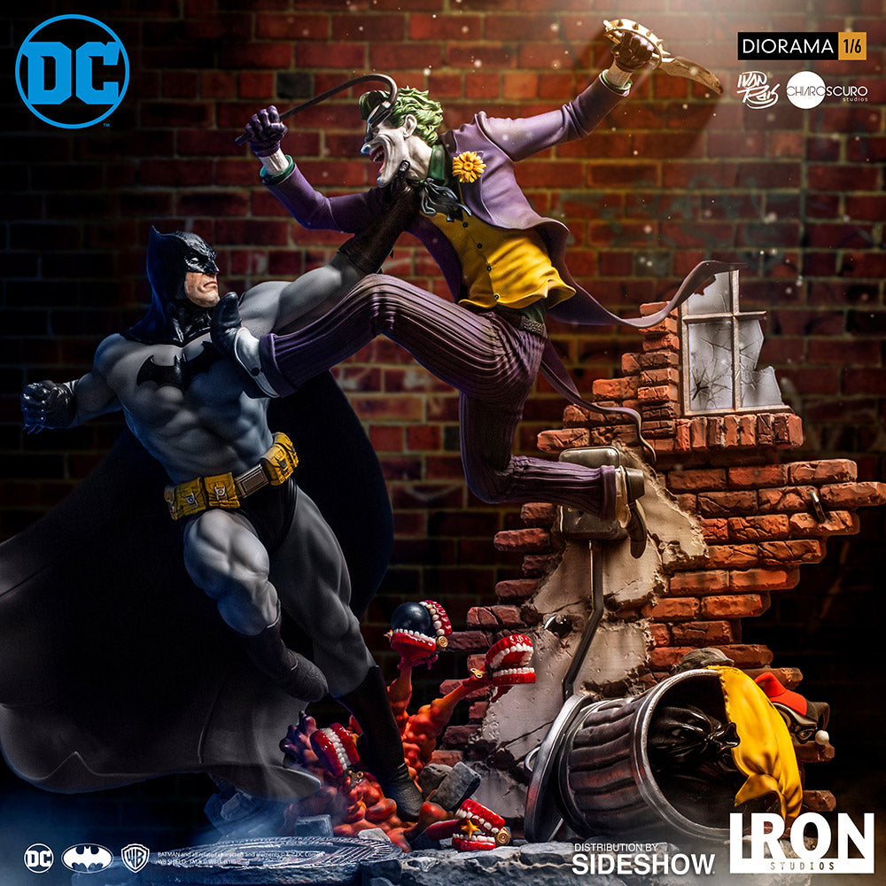 Batman Vs The Joker Sixth Scale Diorama - Collectors Row Inc.