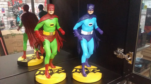 Batman SHOWA EXCLUSIVE SET OF 2 Hot Toys Adam West Maquette by Tweeterhead