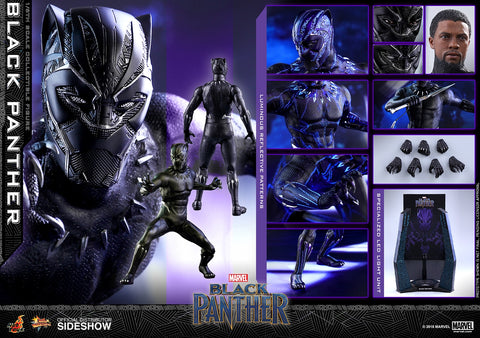 Hot Toys Black Panther Marvel Movie Masterpiece Series Sixth Scale Figure - Collectors Row Inc.