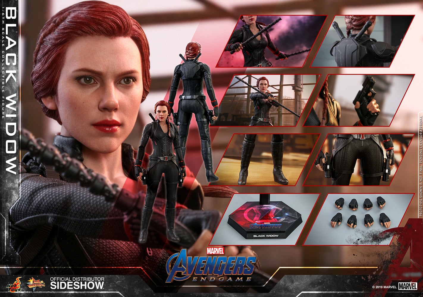 Hot Toys Black Widow Marvel Avengers: Endgame Sixth Scale Figure - Collectors Row Inc.