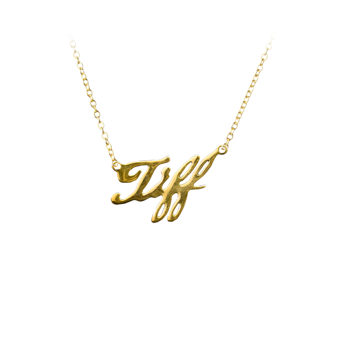 Bride Of Chucky Tiffany Gold Pendant with Necklace