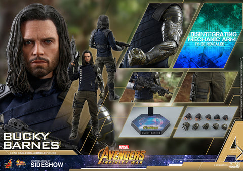 Hot Toys Bucky Barnes Infinity War Avengers Marvel 1/6 Scale Figure - Collectors Row Inc.