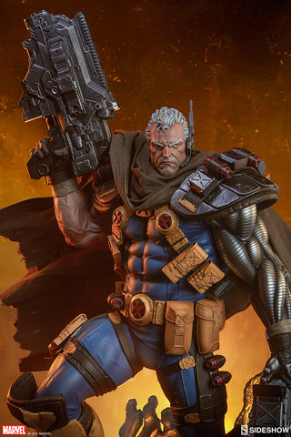 Cable Marvel X-Men Premium Format Figure by Sideshow Collectibles - Collectors Row Inc.