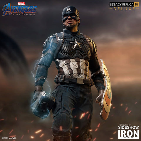 Captain America (Deluxe) Marvel Avengers: Endgame 1/4 Scale Statue by Iron Studios - Collectors Row Inc.