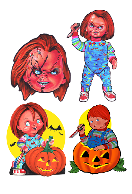 Chucky Child's Play Wall Decor Series 1 Halloween Collection - Collectors Row Inc.