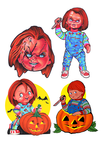 Chucky Child's Play Wall Decor Series 1 Halloween Collection by Trick or Treat Studios - Collectors Row Inc.