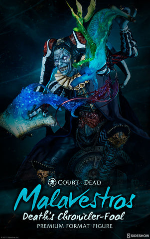 Court of the Dead Malavestros Death's Chronicler-Fool Premium Statue by Sideshow Collectibles - Collectors Row Inc.