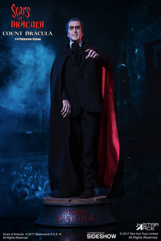 Count Dracula Christopher Lee 1/4 Scale Statue Scars of Dracula Superb Scale - Collectors Row Inc.