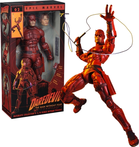 NECA Marvel – 1/4 Scale Action Figure – Daredevil - Collectors Row Inc.