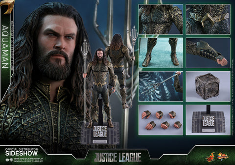 Hot Toys Aquaman DC Comics Justice League Movie Masterpiece Series - Sixth Scale Figure - Collectors Row Inc.
