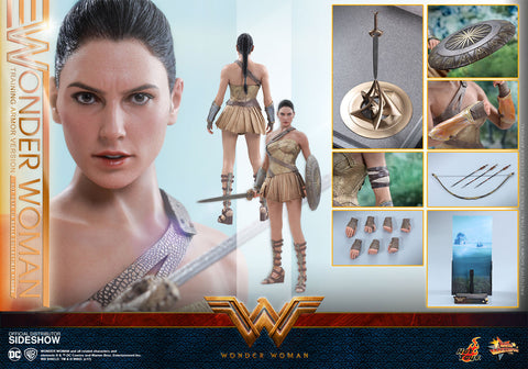 Hot Toys Wonder Woman Training Armor Version- Wonder Woman - Movie Masterpiece Series - Sixth Scale Figure - Collectors Row Inc.