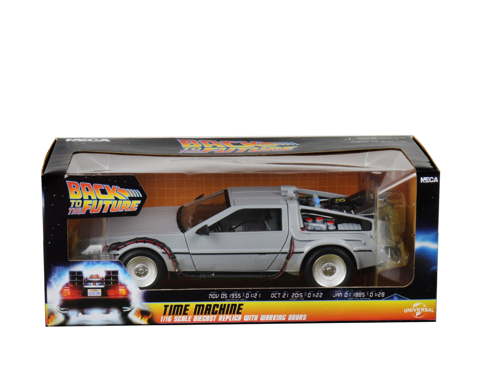 "NECA - Back to the Future – 6"" Diecast Vehicle – Time Machine"