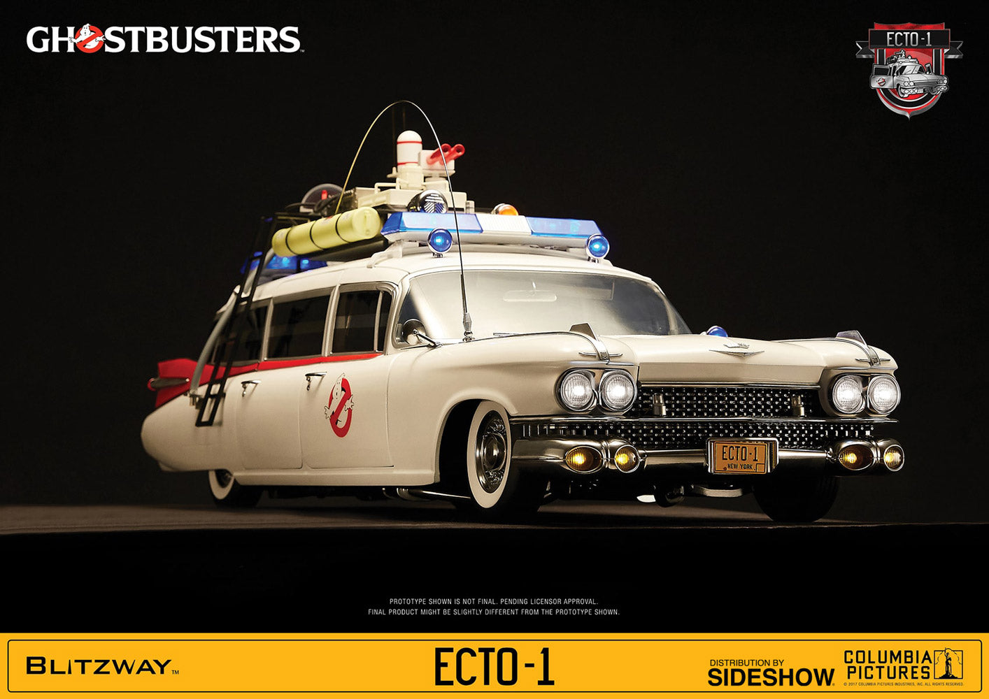 Ghostbusters 1984 Ecto-1 1/6 Scale Vehicle - Collectors Row Inc.