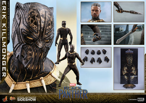 Hot Toys Black Panther Erik Killmonger Sixth Scale Figure - Collectors Row Inc.
