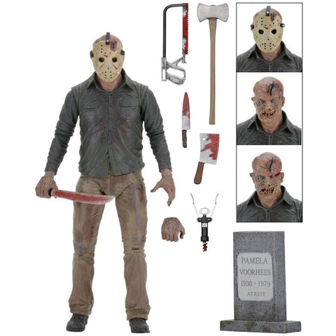 "NECA - Friday the 13th - Ultimate Part 4 Jason 7"" Action Figure - Collectors Row Inc."