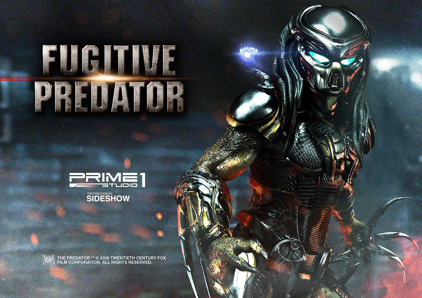 The Predator - Fugitive Predator Statue