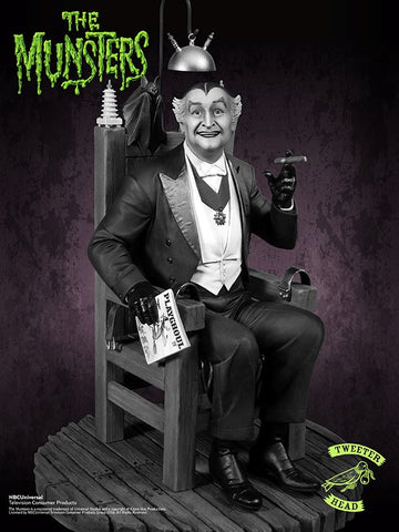 Grandpa Munster Deluxe Black and White Maquette by Tweeterhead