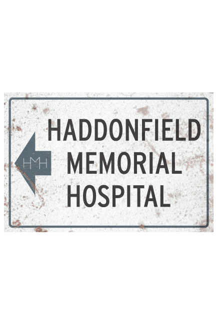Halloween II Micheal Myers Haddonfield Memorial Hospital Aluminum Sign - Collectors Row Inc.