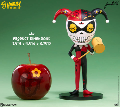 Harley Quinn DC Comics Calavera Designer Toy by Unruly Industries and Sideshow Collectibles - Collectors Row Inc.