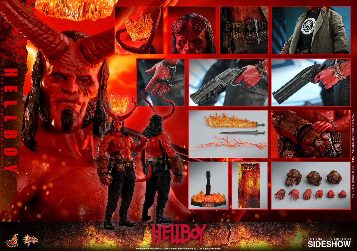 Hellboy 2019 Sixth Scale Figure - Collectors Row Inc.