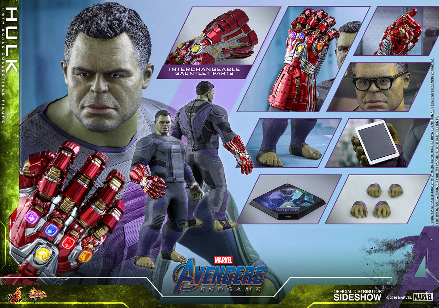 Hot Toys Hulk Avengers: Endgame Sixth Scale Figure - Collectors Row Inc.