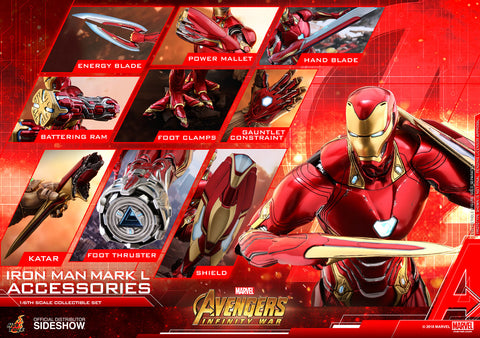 Hot Toys Iron Man Mark L Infinity War Avengers Marvel 1/6 Scale Accessories Pack - Collectors Row Inc.