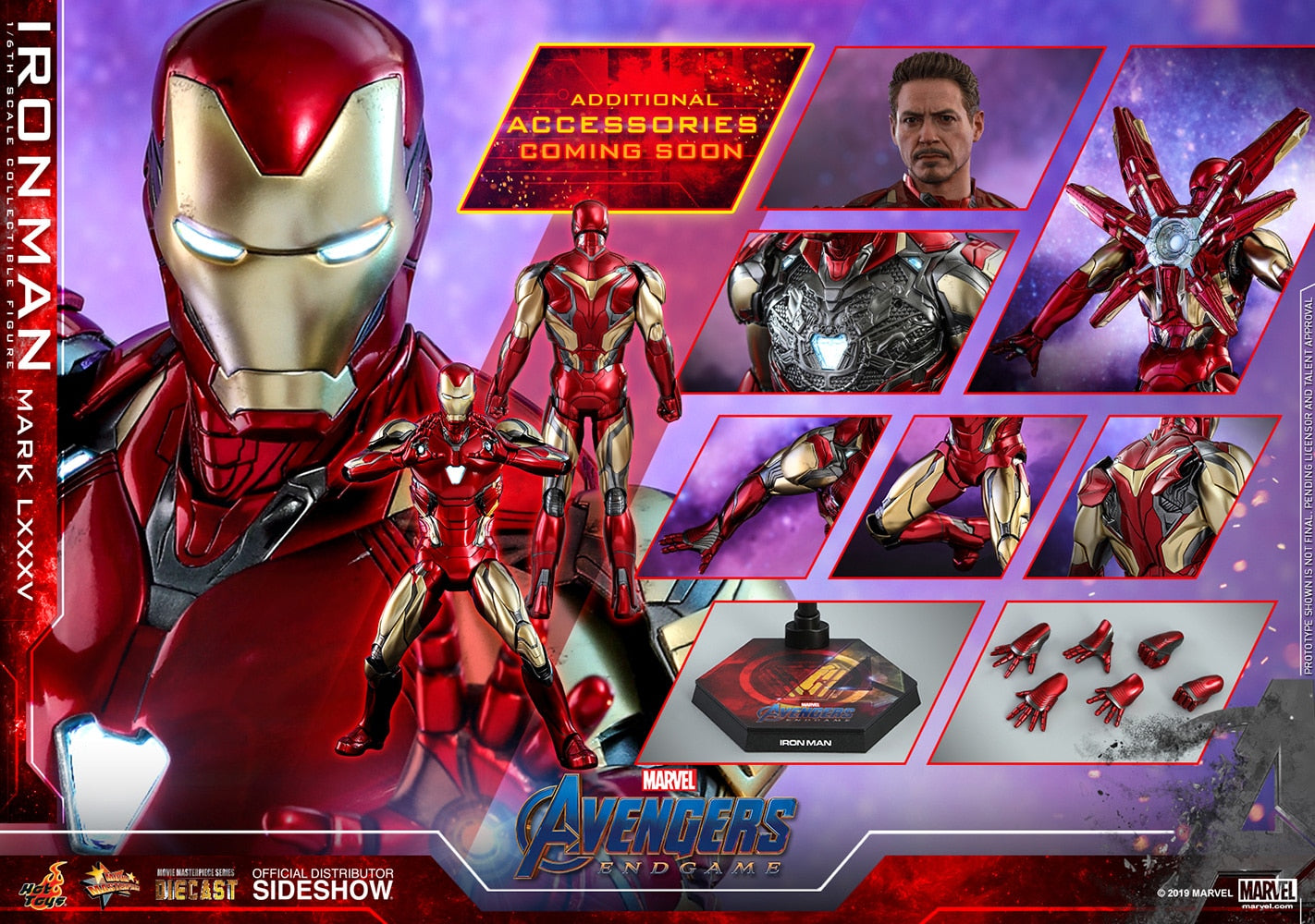 Iron Man Mark LXXXV Marvel Avengers: Endgame Sixth Scale Figure - Collectors Row Inc.