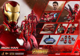 Hot Toys Iron Man Mark L Infinity War Avengers Diecast Marvel 1/6 Scale Figure - Collectors Row Inc.