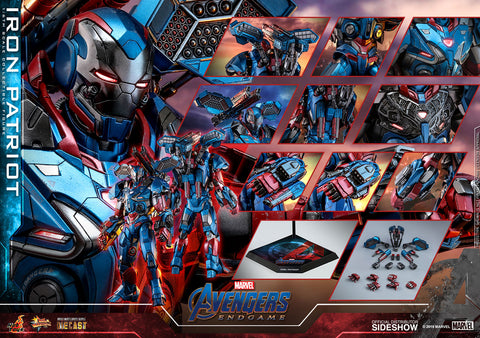 Hot Toys Iron Patriot Iron Man Marvel Avengers: Endgame Sixth Scale Figure - Collectors Row Inc.