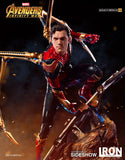 Iron Spider-Man Marvel Statue Avengers Infinity War Peter Parker by Iron Studios - Collectors Row Inc.