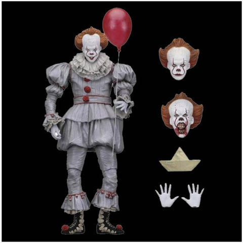 "NECA - IT - Pennywise 7"" Scale Action Figure - Ultimate Pennywise (2017) - Collectors Row Inc."