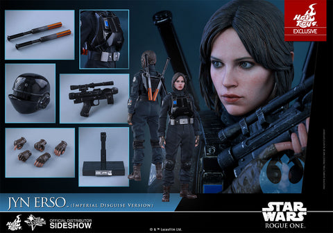 Hot Toys Jyn Erso Star Wars Rogue One Imperial Disguise 1/6 Scale Figure - Collectors Row Inc.