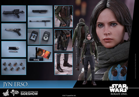 Hot Toys Jyn Erso Star Wars Rogue One 1/6 Scale Figure - Collectors Row Inc.