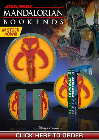 Star Wars Boba Fett Mandalorian Bookends by Gentle Giant - Collectors Row Inc.