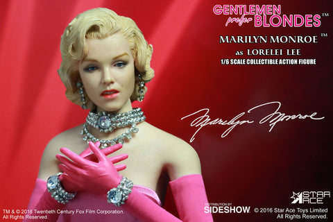 Marilyn Monroe Gentlemen Prefer Blondes 1/6 Lorelei Lee Pink Version by Star Ace - Collectors Row Inc.