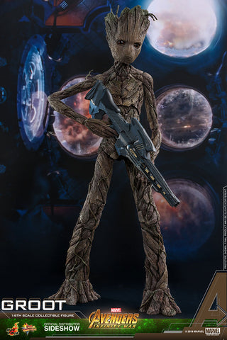 Hot Toys Groot Avengers Infinity War Movie Masterpiece Series Sixth Scale Figure - Collectors Row Inc.