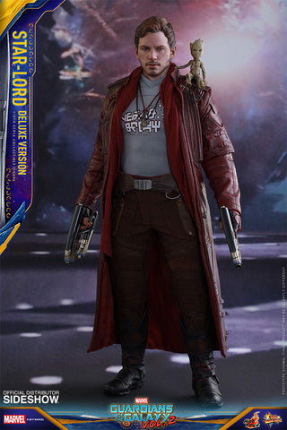 Star-Lord DELUXE Guardians of the Galaxy 2 1/6 Scale Figure by Hot Toys - Collectors Row Inc.