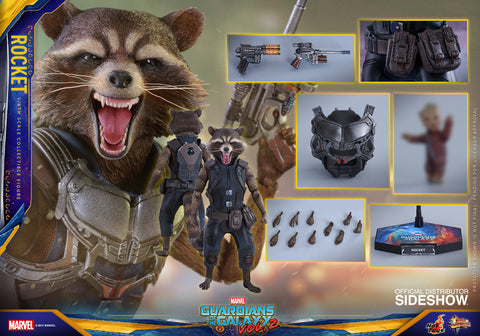Rocket Guardians of the Galaxy Vol. 2 1/6 Figure by Hot Toys - Collectors Row Inc.