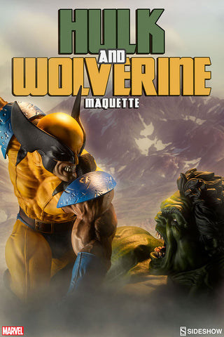 Hulk vs Wolverine Maquette Marvel Statue by Sideshow Collectibles - Collectors Row Inc.
