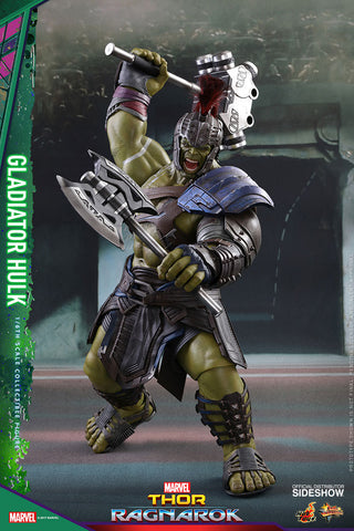 Hot Toys Gladiator Hulk- Thor: Ragnarok - Movie Masterpiece Series - Sixth Scale Figure - Collectors Row Inc.