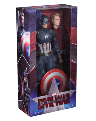 NECA Captain America: Civil War - 1/4 Scale Figure - Captain America - Collectors Row Inc.