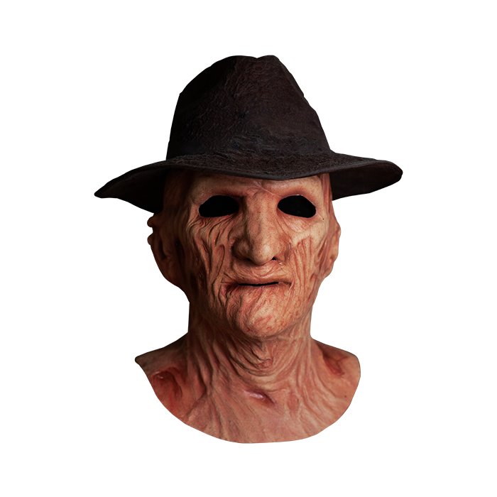 A NIGHTMARE ON ELM STREET 2: FREDDY'S REVENGE - DELUXE FREDDY KRUEGER MASK WITH FEDORA HAT