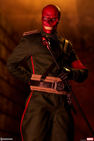 Red Skull Marvel Comics Captain America Avengers Action Figure by Sideshow Collectibles