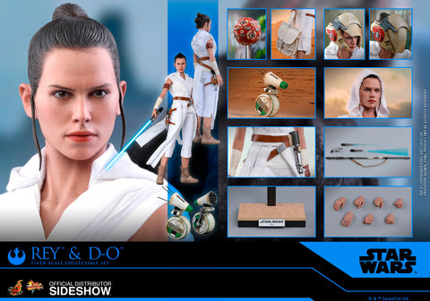 Hot Toys Rey and D-O Star Wars The Rise of Skywalker Sixth Scale Figure Set - Collectors Row Inc.