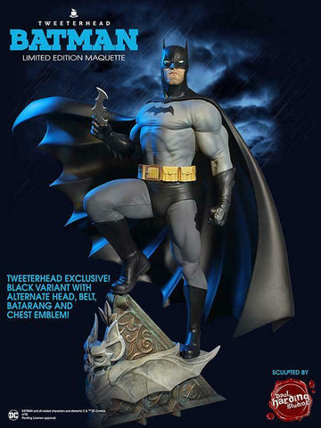 Tweeterhead Batman Super Powers Black Variant Maquette DC Comics EXCLUSIVE Statue - Collectors Row Inc.