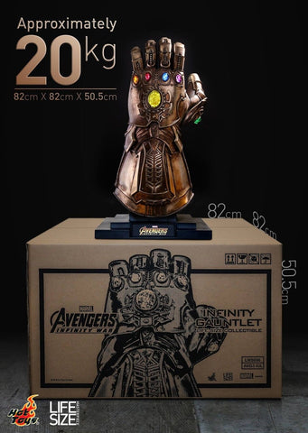 Hot Toys Infinity Gauntlet Thanos Infinity war Avengers 1:1 LIFE SIZE - Collectors Row Inc.