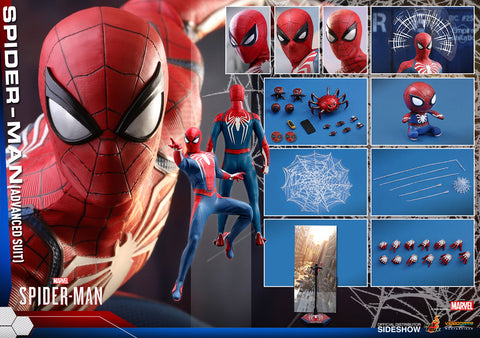 Hot Toys Marvel Spider-Man Advanced Suit 1/6 Figure Video Game Version - Collectors Row Inc.