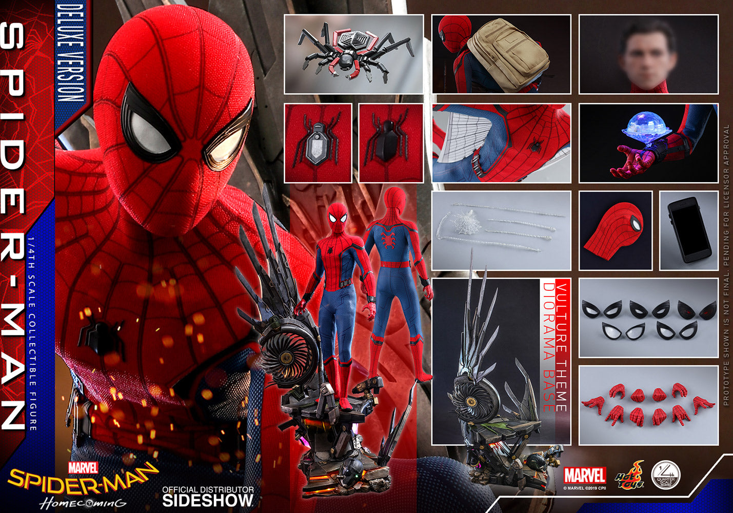 Hot Toys Spider-Man: Homecoming DELUXE Marvel Quarter Scale Figure - Collectors Row Inc.