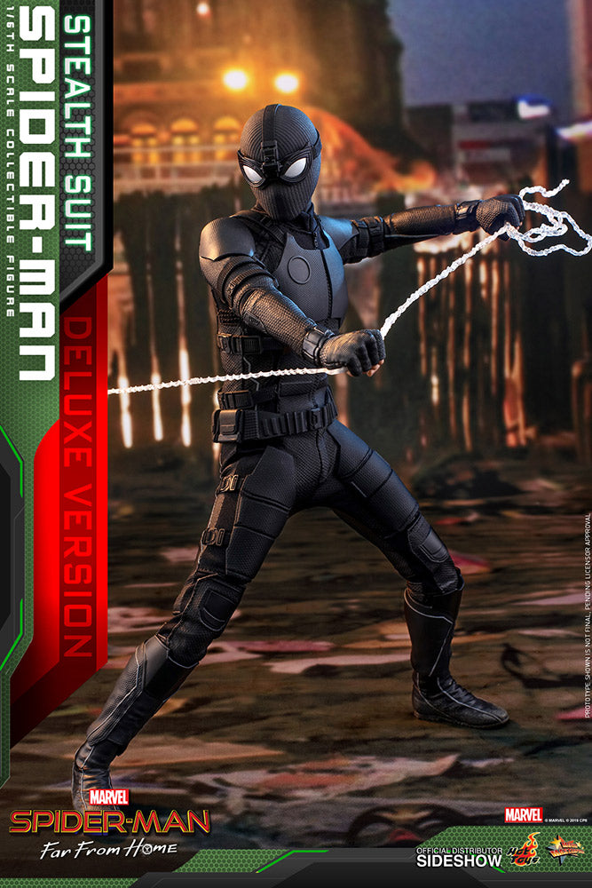 Spider-Man: Far From Home (Stealth Suit) DELUXE Version Marvel Sixth Scale Figure - Collectors Row Inc.